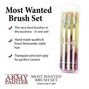 Army Painter Wargamers Most Wanted Brush Set