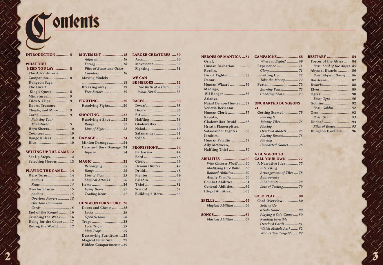 Adventurer's-Companion-Contents