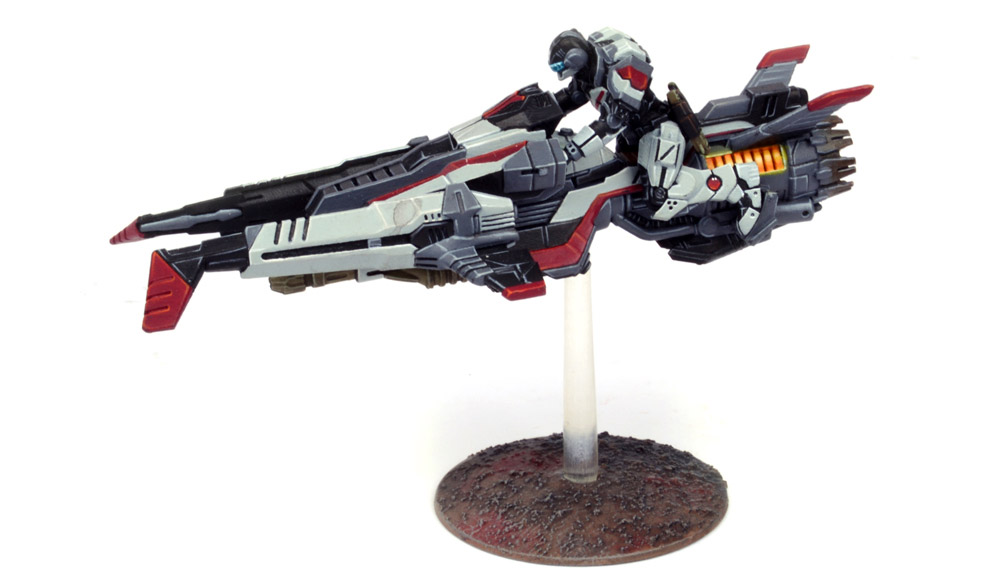 The Enforcer Jetbike was funded in the Deadzone: Infestation Kickstarter and like all Deadzone miniatures, can be used in Warpath.