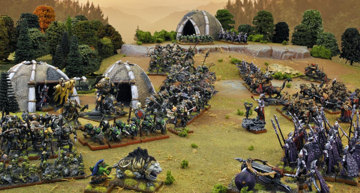 Kings-of-War-Orcs-Goblins-Vs-Twilight-Kin-Abyssal-Dwarfs