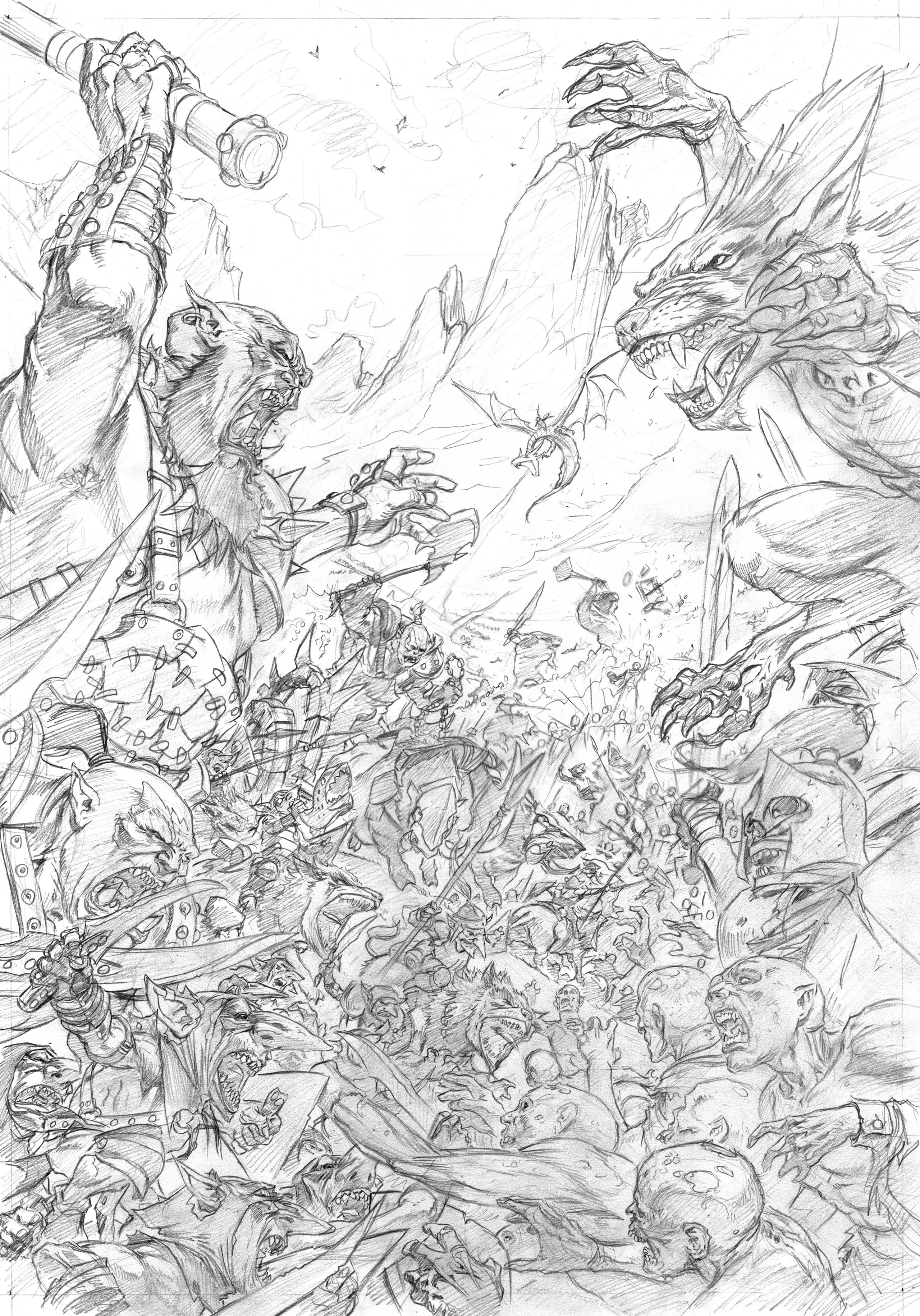 Concept Sketch for the Kings of War V2 Cover