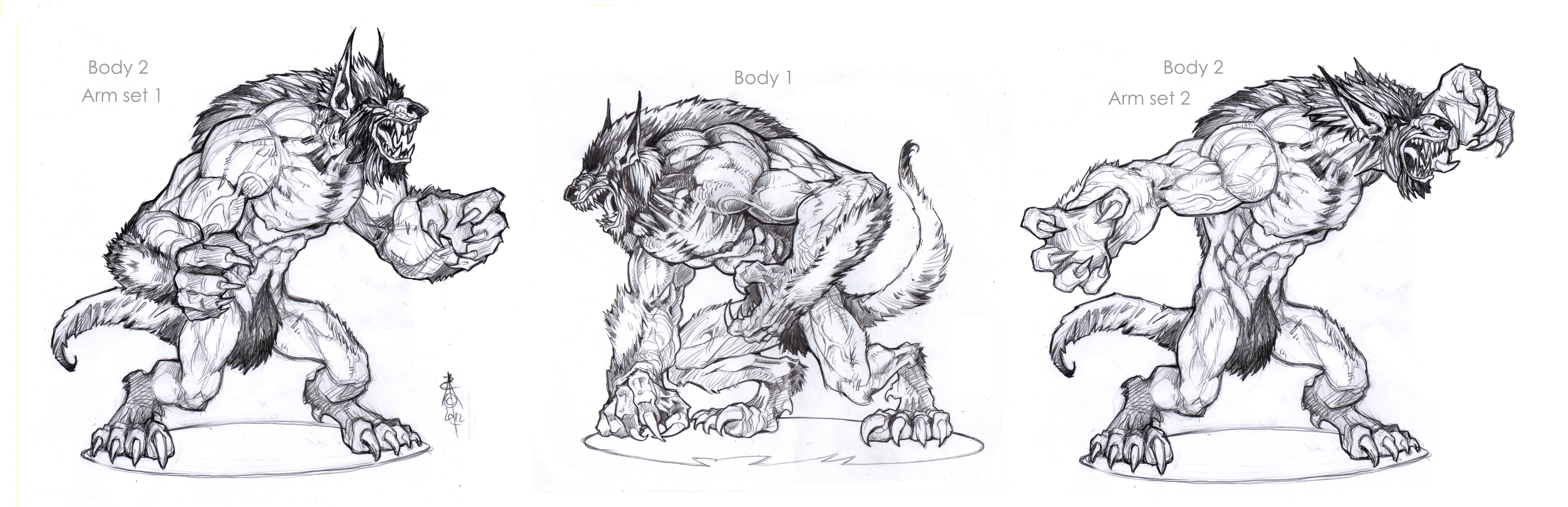 Undead Werewolf Concepts