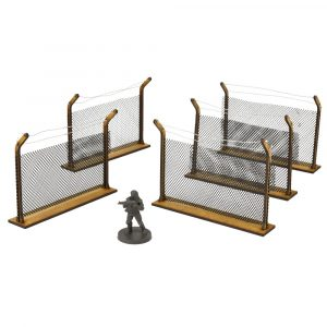 Chain Link Fences Scenery Set