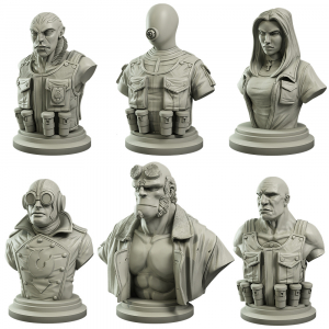 Hellboy Collector's Bust Set