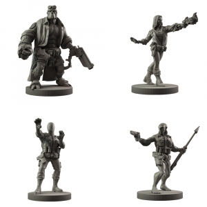 Resin Hellboy: The Board Game Core Agents