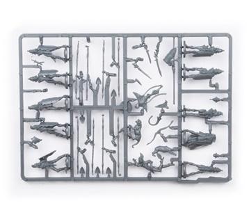 Plastic Frame Elves Spearmen Command Troop